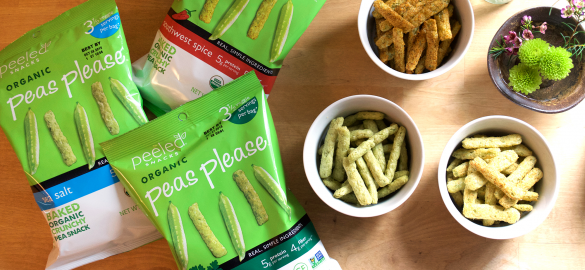 "Organic ""Peas Please"" by Peeled Snacks"